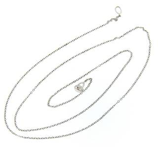 18ct White Gold Thin Chain