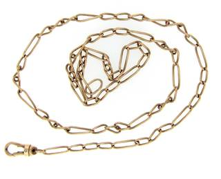 9ct yellow gold curb linked chain