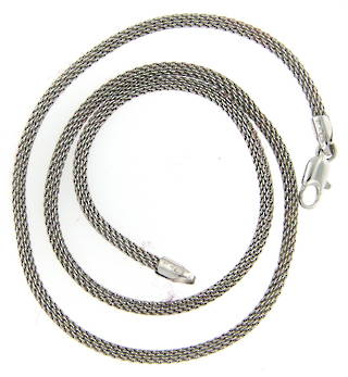 14ct white gold rope style chain