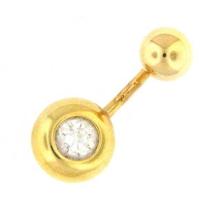 20ct gold belly ring