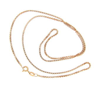9ct yellow gold box link chain