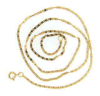 20ct gold flat link chain