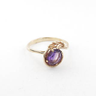 9ct yellow gold Lady's amethyst dress ring
