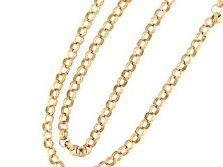 9ct yellow gold large link chain
