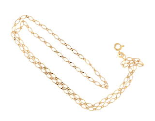 9ct yellow gold figaro curb link chain