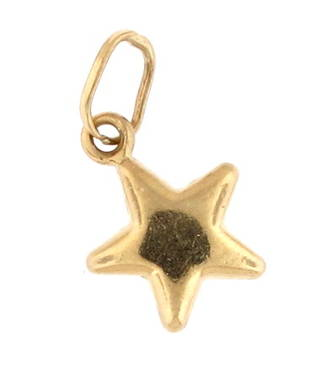 9ct yellow gold 'Star' charm