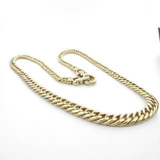 9ct yellow gold curb link graduated chain