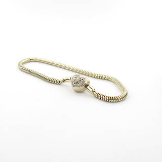 10ct yellow and white gold Michael Hill diamond set charm bracelet