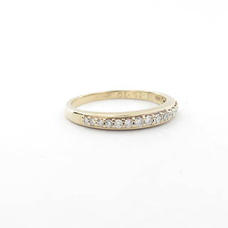 10ct yellow gold diamond set eternity ring