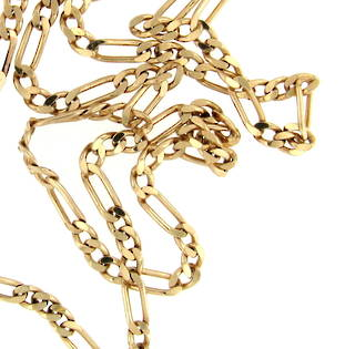 9ct yellow gold long chain
