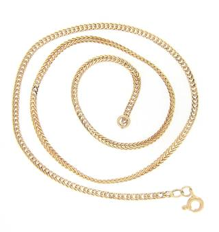 14ct yellow gold foxtail link chain