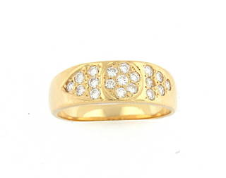 18ct yellow gold diamond set fancy band