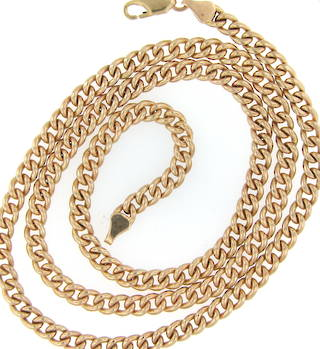 9ct yellow gold 'unisex' curb linked chain
