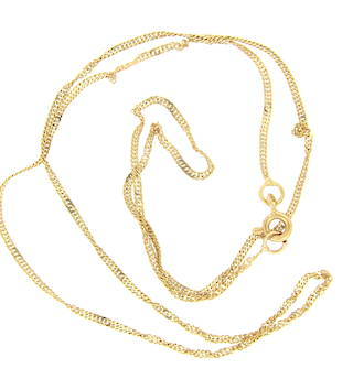 18ct yellow gold thin twisted chain