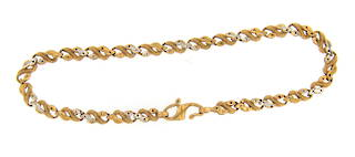 22ct yellow gold fancy bracelet