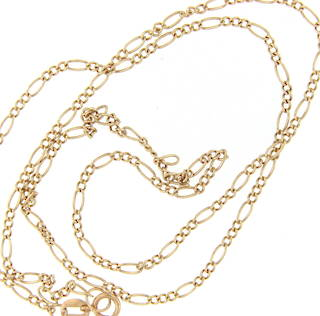 9ct yellow gold multi-sized link chain