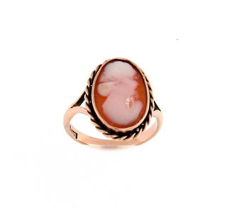 9ct rose gold cameo dress ring