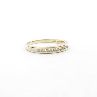 14ct yellow gold diamond set band