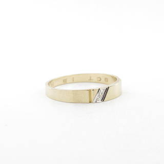 9ct yellow gold diamond set dress band