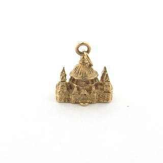 9ct yellow gold cathedral charm