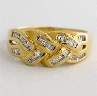 18ct yellow gold diamond set dress ring