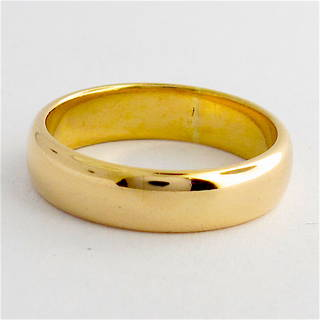 18ct rosey gold wedding band
