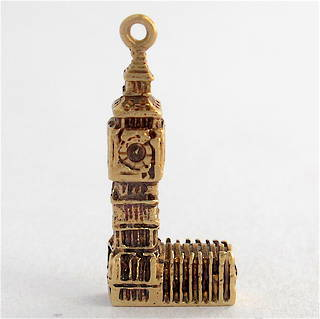 9ct yellow gold big ben charm