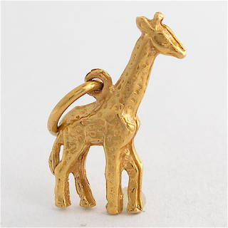 9ct yellow gold giraffe charm