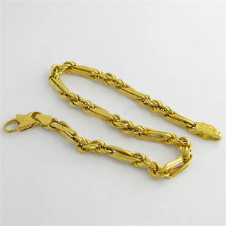 18ct yellow gold fancy twist link bracelet