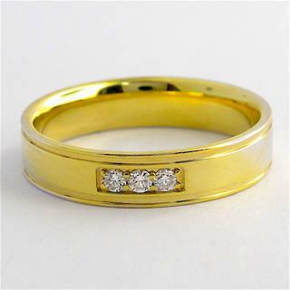 18ct yellow gold diamond set band