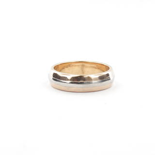 18ct yellow gold and palladium wedding band