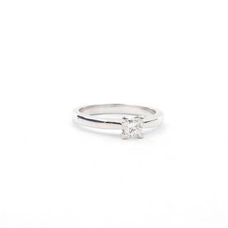 14ct white gold princess cut diamond solitaire ring