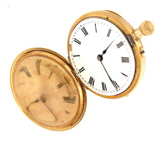 18ct yellow gold cased antique pocket watch