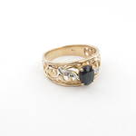 9ct Gold/Sapphire Fancy Ring
