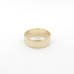 9ct yellow gold wide band ring