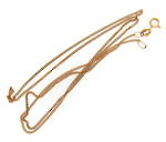 9ct yellow gold curb link thin chain
