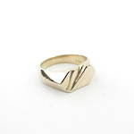 9ct gold chunky men's ring