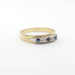 18ct yellow gold diamond and sapphire eternity ring