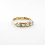 18ct yellow gold antique style cultured pearl dress ring