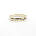 9ct yellow gold and diamond channel set band