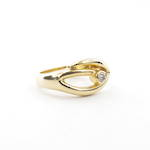 18ct yellow gold contempory style diamond set ring