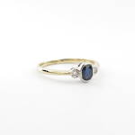 9ct yellow/white gold sapphire and diamond dress ring