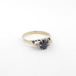 9ct yellow/white gold vintage style sapphire and diamond set ring