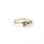 9ct yellow gold sapphire and diamond set ring