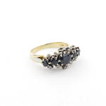 18ct yellow/white gold sapphire and diamond dress ring