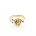 18ct yellow gold antique twist style ring