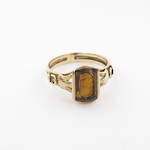 15ct yellow gold antique citrine ring