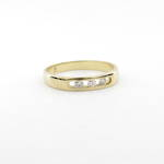 18ct yellow gold x3 diamond set band ring