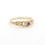 18ct yellow gold vintage ruby and diamond set ring