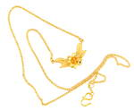 22ct yellow gold flower pendant with chain